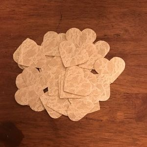 Other - 36 Lace Burlap Hearts